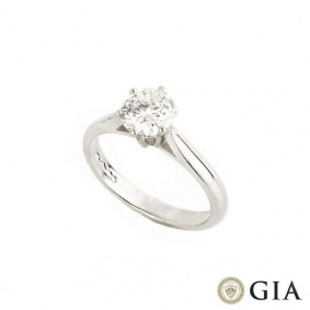 Round Brilliant Cut Diamond Ring in Platinum 1.00ct D/IF